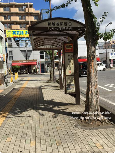 東武伊勢崎線(スカイツリーライン)新越谷駅、またはJR武蔵野線南越谷駅西口から「七左七丁目行」のバス停
