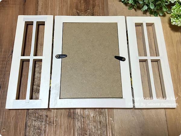 ナチュラルキッチンの写真立て「フォトフレーム 窓」 写真立てなのでこの部分はくりぬけます