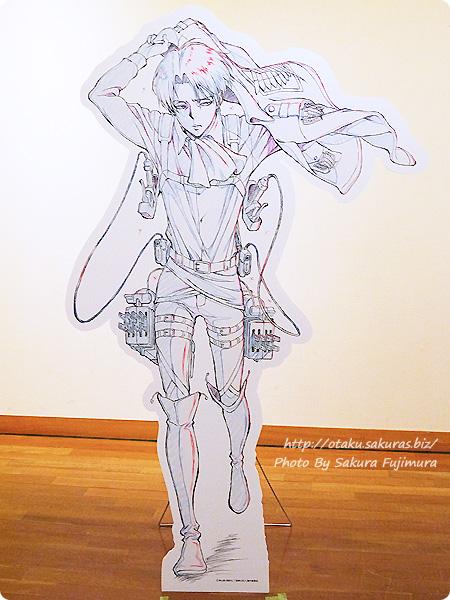 浅野恭司×WIT STUDIO原画展2016 古河街角美術館 進撃の巨人 リヴァイ兵長パネル 全体