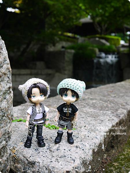 浅野恭司×WIT STUDIO原画展2016 古河歴史博物館周辺とオビツろいどリヴァイとエレン その1