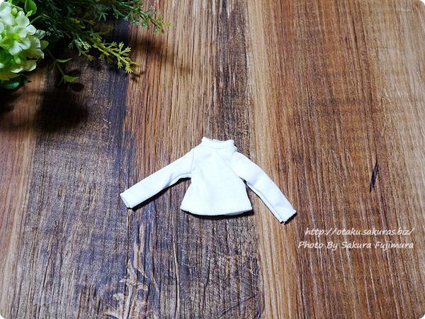 アゾン 1/12用 長袖Tシャツ(ホワイト) 表