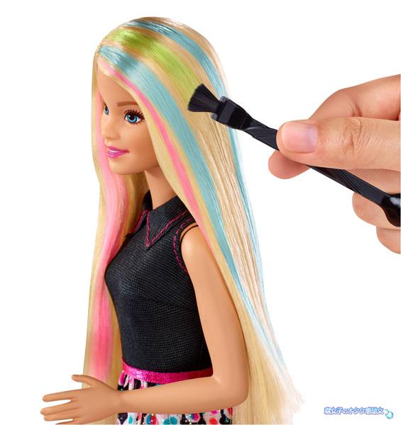 マテル・インターナショナル株式会社「バービー ミキシングカラ―」水にと溶かした染料でバービー人形の髪の毛を染められる