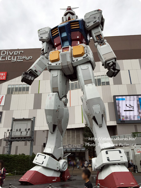 ダイバーシティ東京のガンダム その2