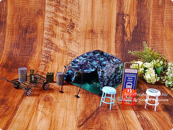 ガチャガチャ 1/12サイズ「THE テント」  セリアのミリタリーオブジェやアメリカンなミニチュアと相性がいい