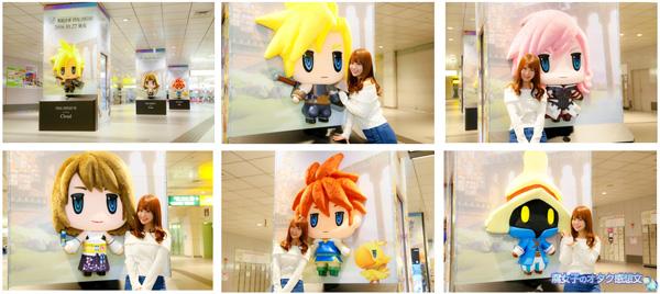 『ワールド オブ ファイナルファンタジー』渋谷駅/巨大フィギュアジャックキャンペーン 近づくと声優さんの声でセリフがきこえる!