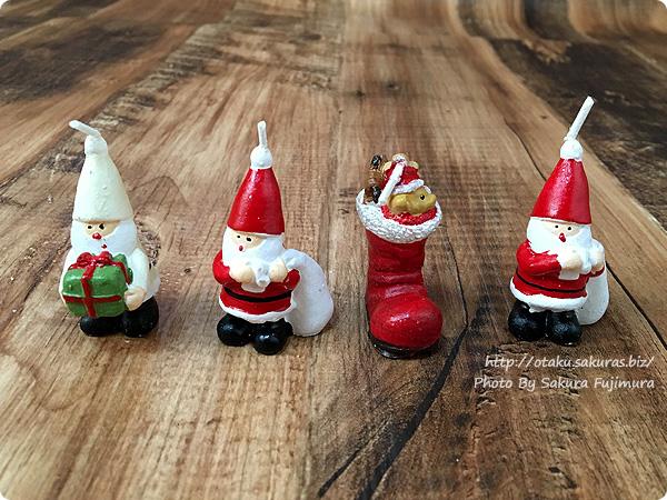 ナチュラルキッチン クリスマス2016 サンタヤやクリスマスソックスのミニキャンドル