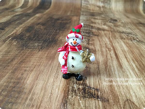 ナチュラルキッチン クリスマス2016 スノーマンのミニサイズ置物