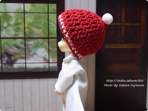 ナチュラルキッチン クリスマス2016  手編みの帽子オーナメントはねんどろヘッドでかぶれる その2