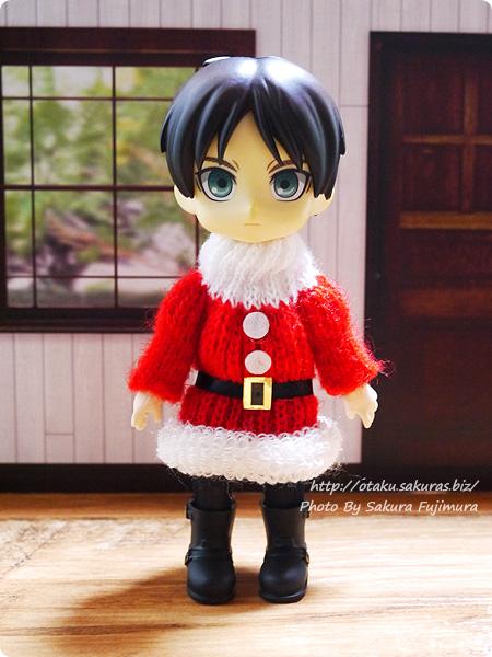 東急ハンズ サンタのニットセーターのクリスマスオーナメント オビツ11着用画像 その1