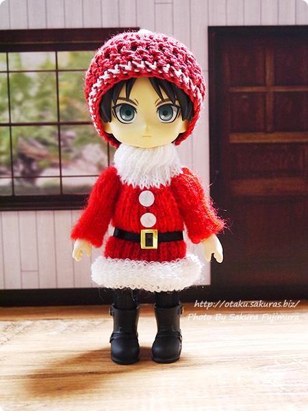 東急ハンズ サンタのニットセーターのクリスマスオーナメント オビツ11着用画像 その3