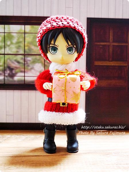 東急ハンズ サンタのニットセーターのクリスマスオーナメント オビツ11着用画像 その4