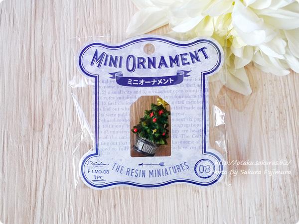 100円ショップキャンドゥのクリスマス用ミニオーナメント ミニチュアクリスマスツリー