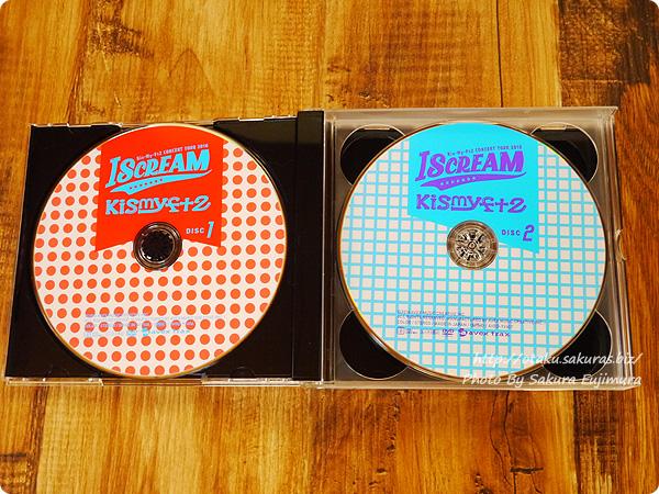 キスマイ初回生産限定盤DVD Kis-My-Ft2「CONCERT TOUR 2016 I SCREAM」 DISC1、DISC2盤面