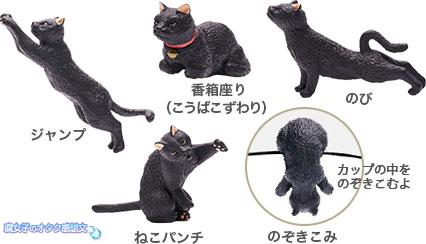 カフェ・ベローチェ30周年記念【ふちねこキャンペーン】ミニチュア猫は全5種類