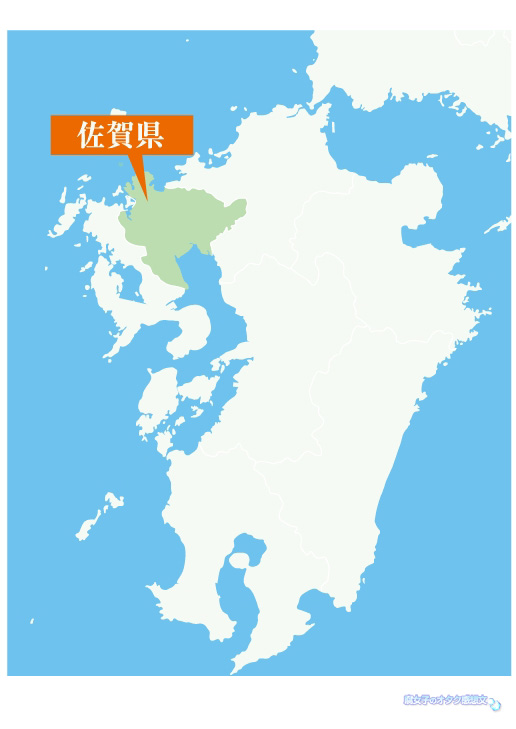 佐賀県×ユーリ!!!on ICEコラボイベント「サーガ!!! on ICE 」 佐賀県地図