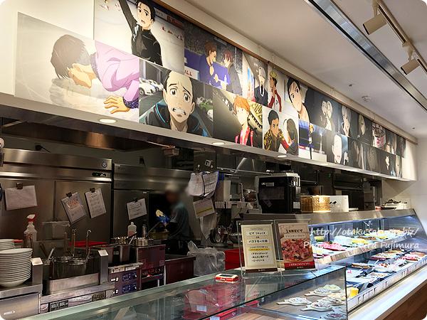 ユーリ!!! on ICE×Youme cafe standコラボ中のSWEETS PARADISE(スイーツパラダイス)丸井大宮店 店内の様子 その2