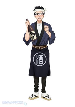 佐賀県 × ユーリ!!!on ICE「サーガ!!! on ICE 」描き下ろしイラスト 勝生勇利×日本酒