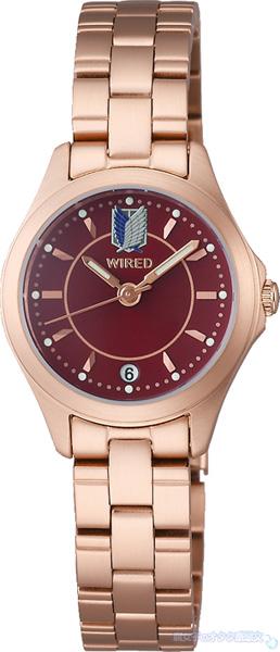 【数量限定】WIRED(ワイアード)×進撃の巨人コラボ腕時計 ミカサ シグネチャー モデル (AGEK740) 全体