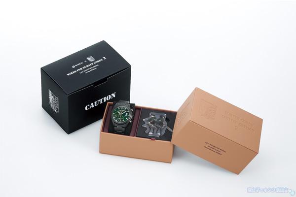 【数量限定】WIRED(ワイアード)×進撃の巨人コラボ腕時計 リヴァイモデル・ミカサモデル 共通