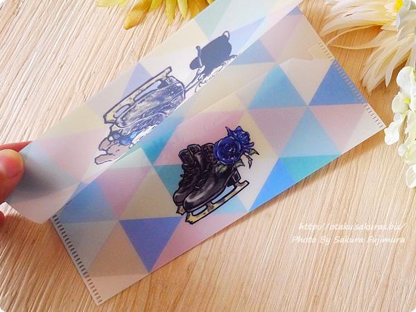 アニメ「ユーリ!!! on ICE」Blu-ray&DVD3巻 封入特典:久保ミツロウ描き下ろしチケットケース 内側にスケート靴