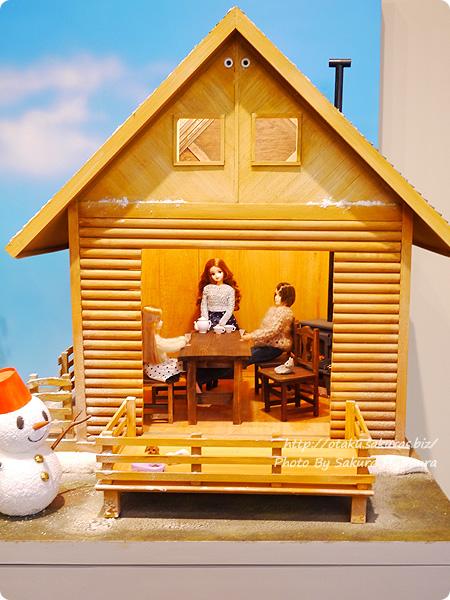 松屋銀座・誕生50周年記念「リカちゃん展」 ログハウス 展示