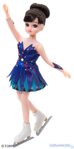 浅田真央♥リカちゃん人形セット記念フレーム切手セット付 FPラフマニノフの衣装を着たリカちゃん本体