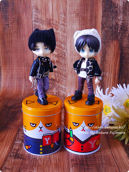 Y!mobile(ワイモバイル)「ふてニャン ヤング缶」全2種類と進撃オビツろいど その1