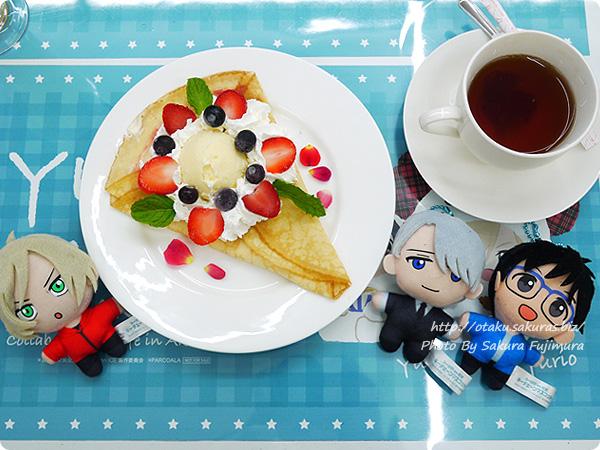 ユーリ!!! on ICE×アニメプラザ秋葉原店コラボ コラボカフェ Amazing!ブリヌイ風クレープ~ロシアンティーセット~