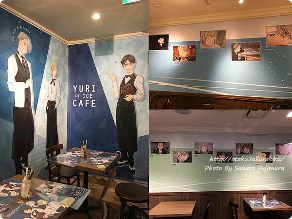 原宿・表参道OMOTESANDO BOX CAFE&SPACE「ユーリ!!! on ICE カフェ」 店内の様子 その1