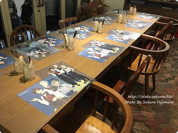 原宿・表参道OMOTESANDO BOX CAFE&SPACE「ユーリ!!! on ICE カフェ」 店内の様子 その2