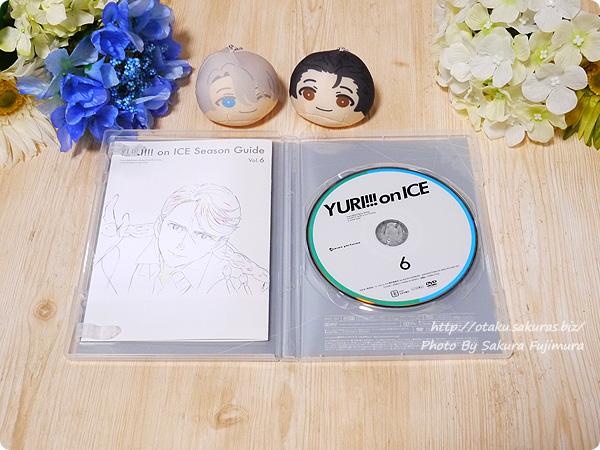 アニメ「ユーリ!!! on ICE」Blu-ray&DVD第6巻 盤面デザインとブックレット表紙