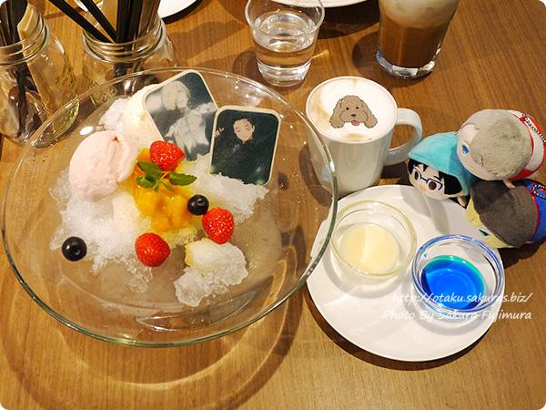 原宿・表参道OMOTESANDO BOX CAFE&SPACE「ユーリ!!! on ICE カフェ」 二回目で頼んだメニューたち