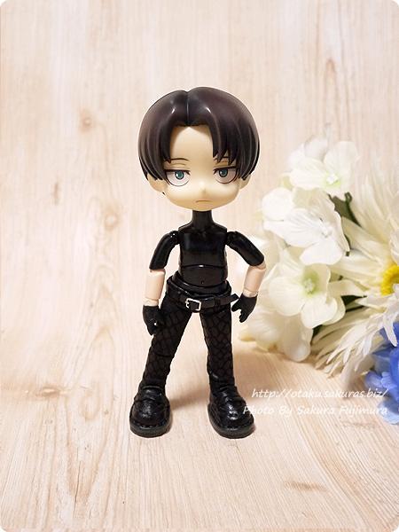 オビツ製作所 オビツ11ボディ ブラック[黒]+ねんどろいどヘッド 腕の前腕のみホワイティ