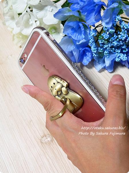 empty「ユーリ!!! on ICE スマートフォンリング マッカチン」iPhone6sで使ってみた