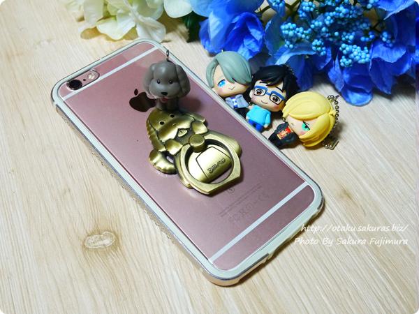 empty「ユーリ!!! on ICE スマートフォンリング マッカチン」使い勝手がどうこうよりかわいいスマホリング