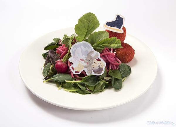 「Yuri on Ice×Sanrio characters」ヴィクトルとポムポムプリン&マッカチンのビーツ畑のペペロンチーノ 1,690円(税抜)