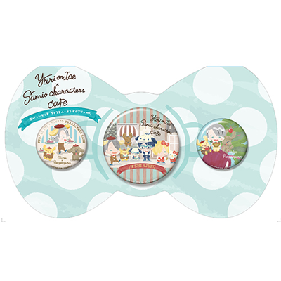 Yuri on Ice×Sanrio characters Cafe 缶バッジ3個セット(ヴィクトル・ニキフォロフ×ポムポムプリン)