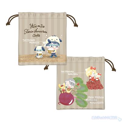 Yuri on Ice×Sanrio characters Cafe 巾着 750円(税抜)