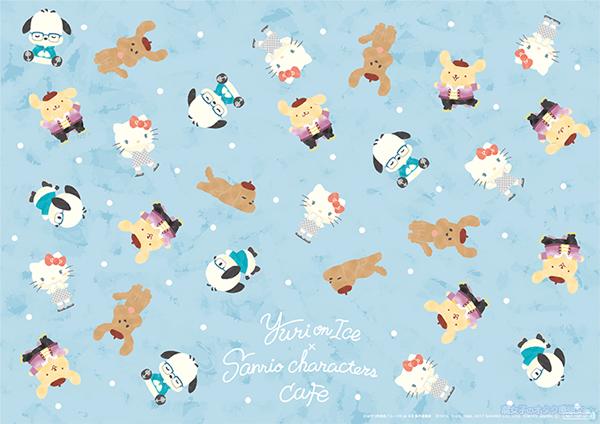 「Yuri on Ice×Sanrio characters」オリジナルランチョンマット(全4種類) 総柄