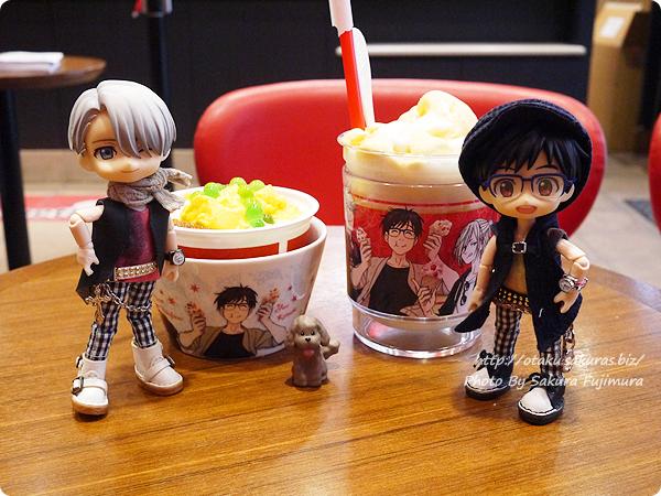 コールド・ストーン・クリーマリー (Cold Stone Creamery)  東京スカイツリー・ソラマチ店 ユーリ!!! on ICEコラボ 勇利 KATSUDO on ICEとユリオ クーリーズ オビツろいど勇利とオビツろいどヴィクトル 食べたもの