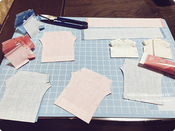 Dollybird vol.23 「Print Dresss Craft」 切ったパーツをボンドで貼る