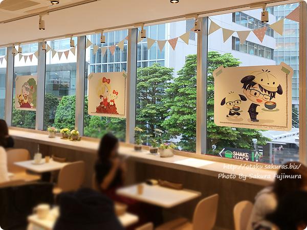 ユーリ!!! on ICE×サンリオ 期間限定コラボカフェ「Yuri on Ice×Sanrio characters Cafe」 二階内装 その2