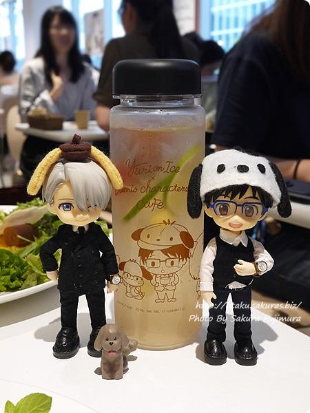 ユーリ!!! on ICE×サンリオ 期間限定コラボカフェ「Yuri on Ice×Sanrio characters Cafe」 みんなで暑さを吹っ飛ばせ!ドリンクボトル オビツろいどヴィクトルと勇利