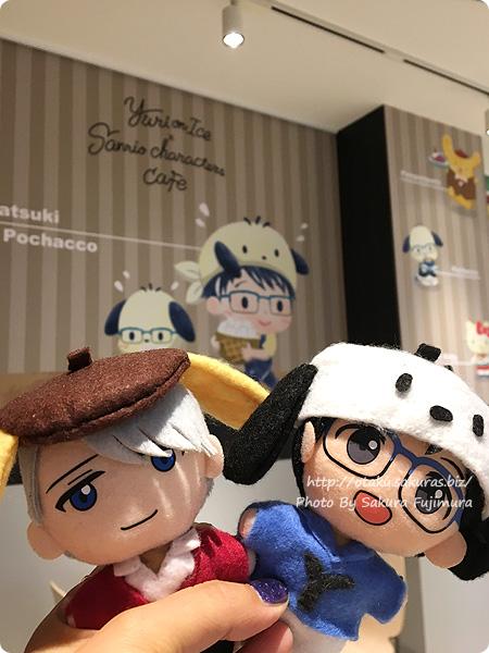 ユーリ!!! on ICE×サンリオ 期間限定コラボカフェ「Yuri on Ice×Sanrio characters Cafe」 2階カフェスペースのぬいたち
