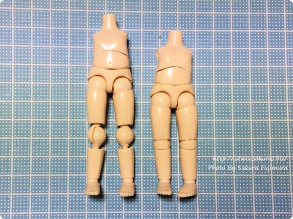 オビツ11ボディ オビ球10mm オビツろいどの身長差改造