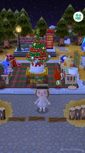 【ポケ森】<どうぶつの森 ポケットキャンプ>クリスマスグッズで溢れかえるキャンプ