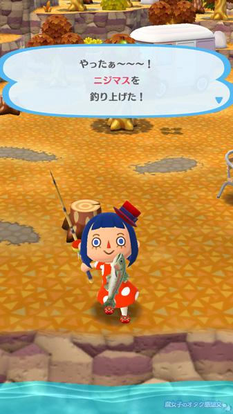 【ポケ森】ニジマスを釣った<どうぶつの森 ポケットキャンプ>