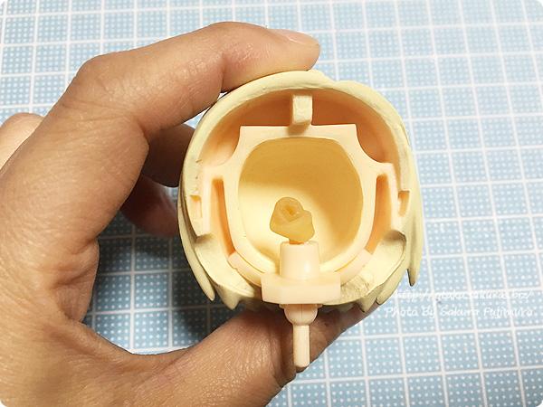 ねんどろいどヘッド オビ球と虫ゴム構造