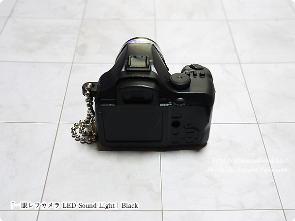 ガチャガチャ「一眼レフカメラ LEDサウンドライト」Black 後ろ