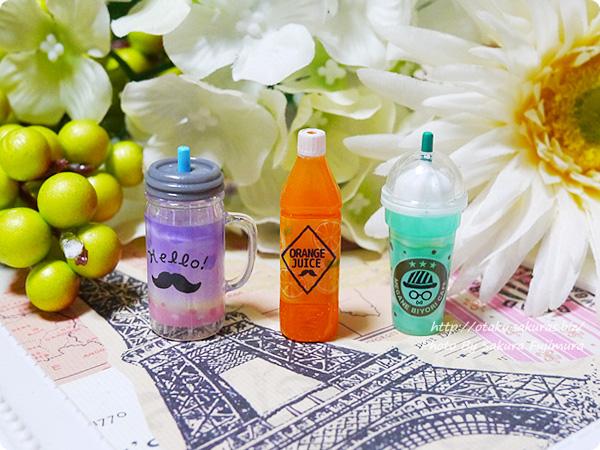 鉛筆キャップ「パロディえんぴつキャップ」パッケージ メイソンジャー・オレンジジュース、フラペチーノ
